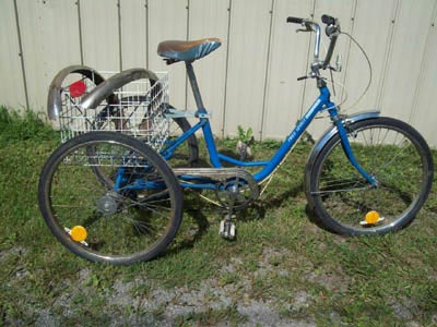 Typical adult tricycle, the Free Spirit 3 speed